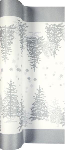 Tischläufer Tree and Snowflakes - Bäume & Schneeflocken 500x40cm