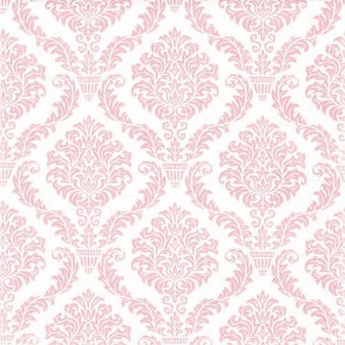 20 Servietten Elegant rosé - Muster rosa 33x33cm