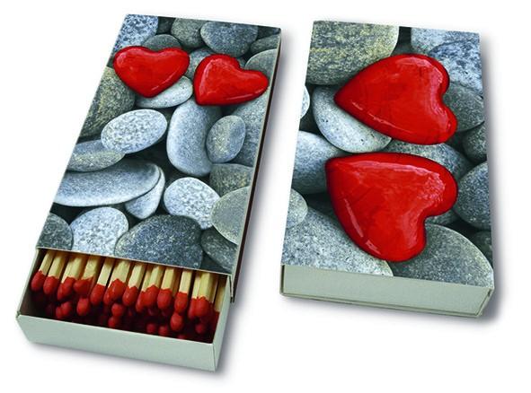Kaminhölzer 45er Box Love Stones - Steine der Liebe 11x6,3cm