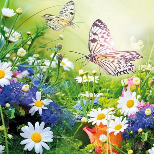 Ambiente Servietten Wildflowers 33x33cm