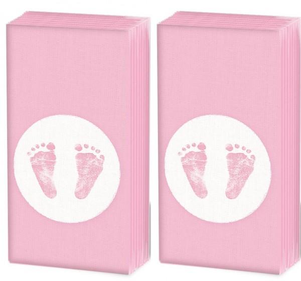 2x 10 Taschentücher Baby Steps Girl