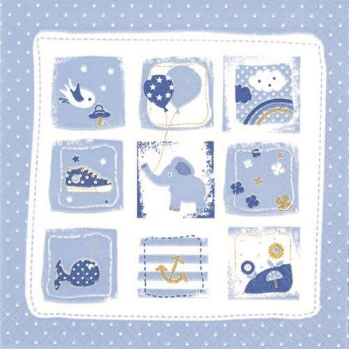 20 Servietten Little One blue 33x33cm