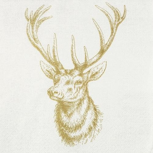20 Servietten Classic Deer 33x33cm