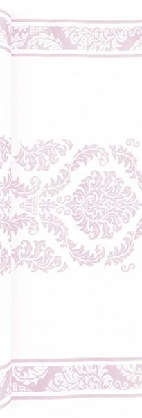 Tischläufer Elegant rosé - Muster rosé 490x40cm