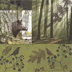 20 Servietten Forest in Fall - Wald im Herbst 33x33cm