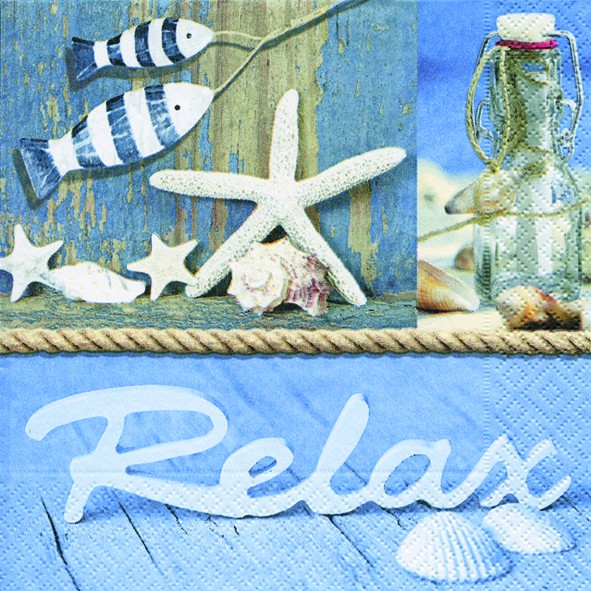 20 Servietten Time to relax - Relax 33x33cm