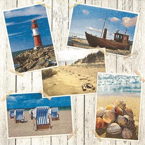 RP 20 Servietten Beach Impressions - Strandeindrücke 33x33cm