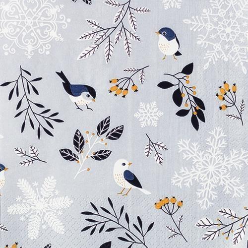 20 Servietten Birds and Twigs 33x33cm