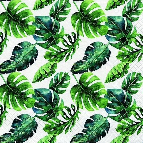 20 Servietten Dense Jungle Leaves 33x33cm
