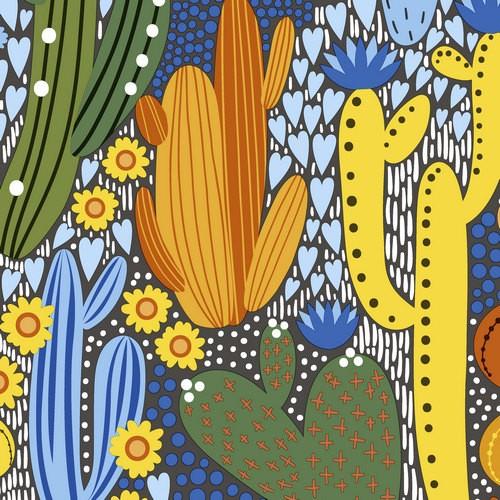 20 Servietten Cacti Color 33x33cm