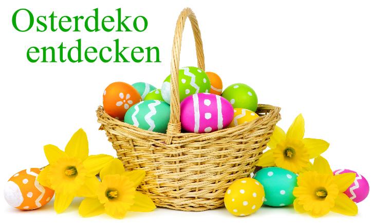 Servietten und Tischdeko für Ostern