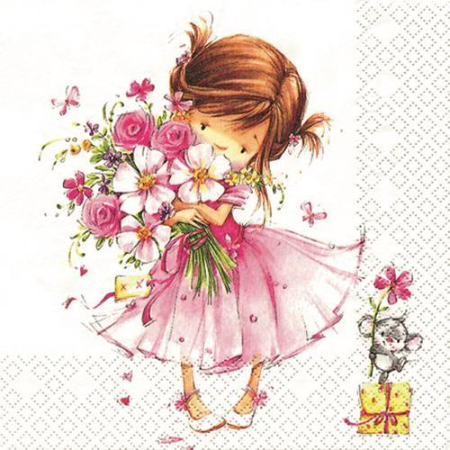 20 Servietten Little Princess - Kleine Prinzessin 33x33cm