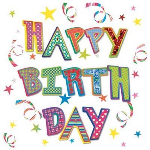 20 Servietten Happy Birthday with Dots 33x33cm