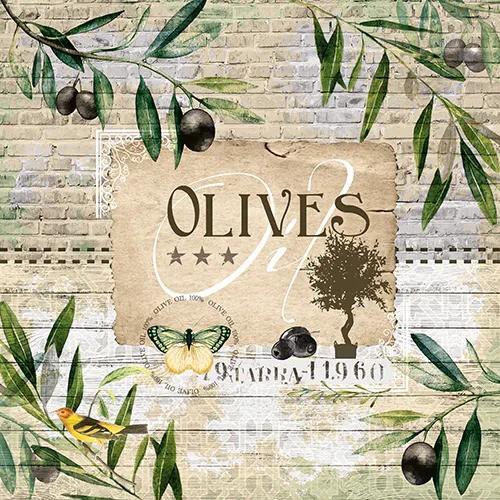 20 Servietten Olive Tree - Oliven vom Baum 33x33cm