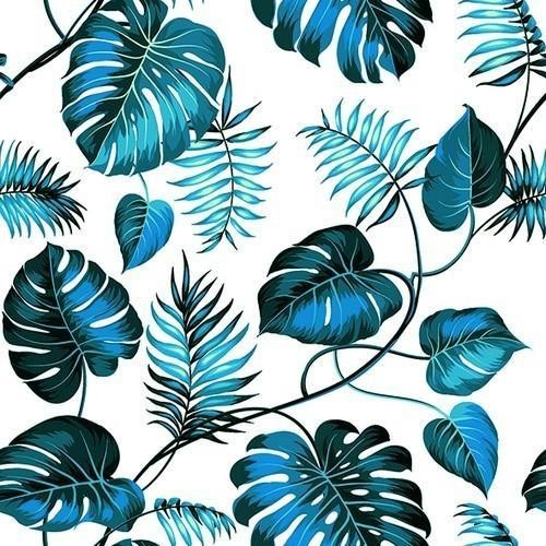Paper Design Servietten Monstera Blue 33x33cm