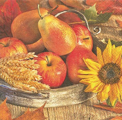 20 Servietten Thanksgiving - Erntedankfest 33x33cm