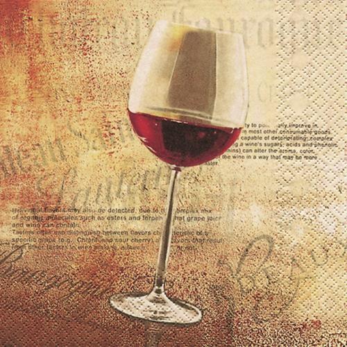 20 Servietten Classic Red Wine - Klassischer Rotwein 33x33cm