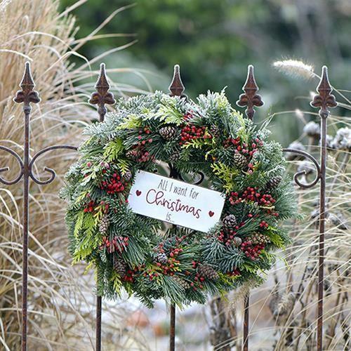 20 Servietten Wreath on a Fence - Kranz am Zaun 33x33cm