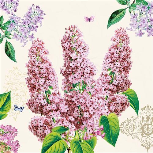 20 Servietten Syringa - Fliederpflanze 33x33cm