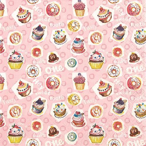 20 Servietten Sweet Tooth - Für Naschkatzen 33x33cm