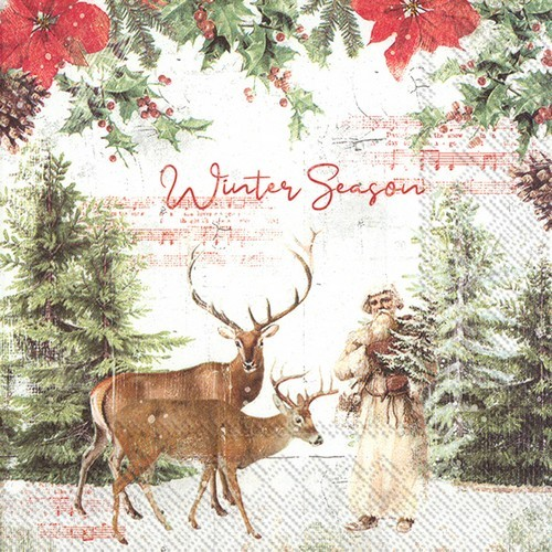20 Servietten Winter Season - Beginn der Winterzeit 33x33cm