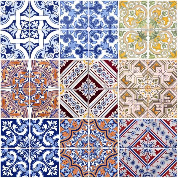 20 Cocktailservietten Tiles – Mandala quadratisch 24x24cm