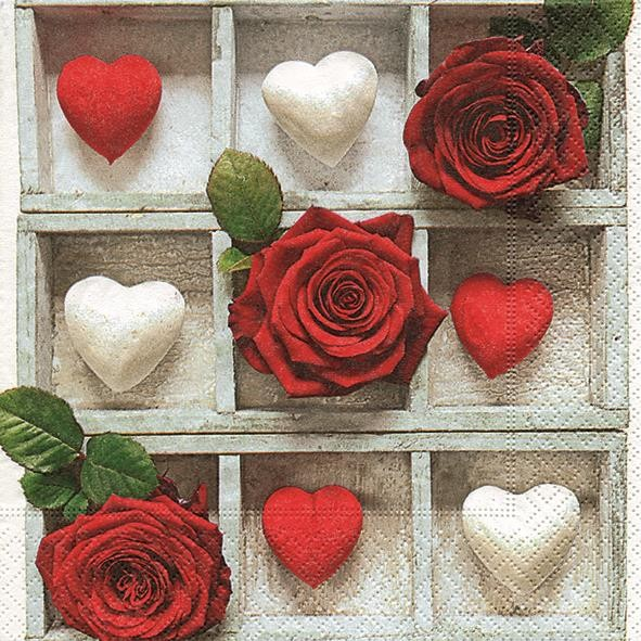 20 Servietten You are loved - Symbole der Liebe 33x33cm