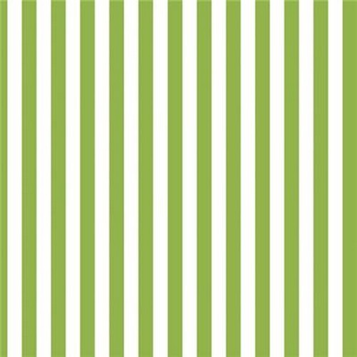 20 Servietten Green Stripes 33x33cm