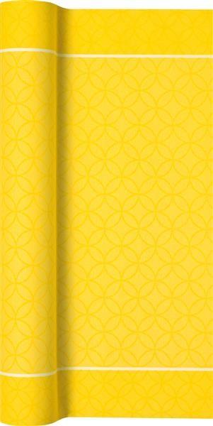 Tischläufer Ranunkel Ornament yellow - Ornamente gelb 490x40cm