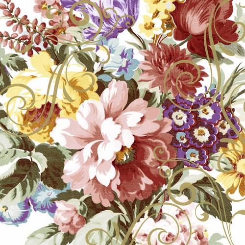 20 Servietten Ornate Florals 33x33cm