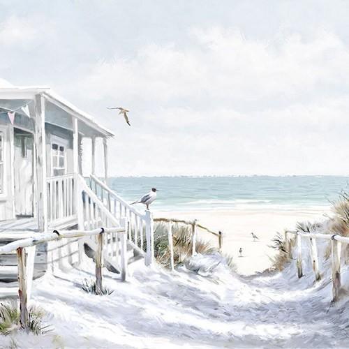 Ambiente Servietten Beach Cabin 33x33cm