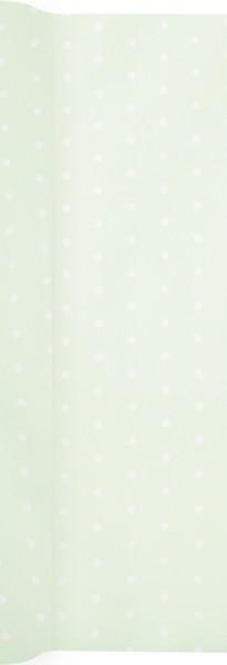 Tischläufer Mini Dots pastel green - Mini Punkte pastell grün 490x40cm