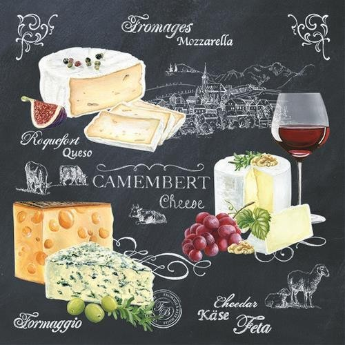 EasyLife Servietten World of Cheese 33x33cm