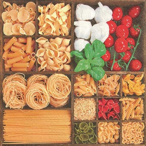20 Servietten World of Pasta - Welt voller Pasta 33x33cm