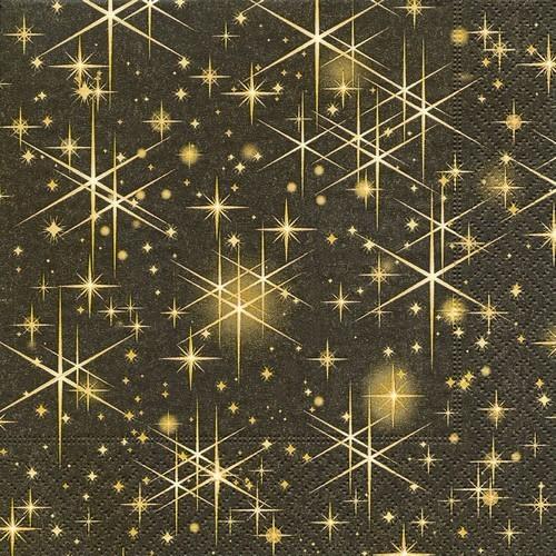 20 Servietten Glittering Stars 33x33cm