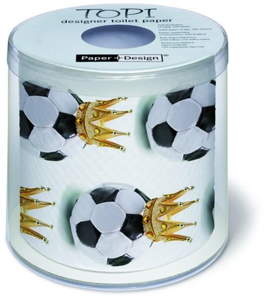 Toilettenpapier Rolle bedruckt Soccer King - Fußballkönig