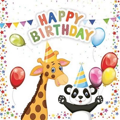20 Servietten My Birthday 33x33cm