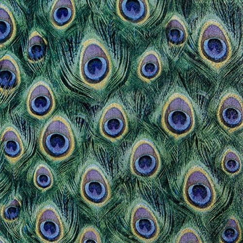 20 Servietten Peacock Feathers - Pfauenfedern 33x33cm