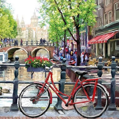 Ambiente Servietten Amsterdam Canal 33x33cm