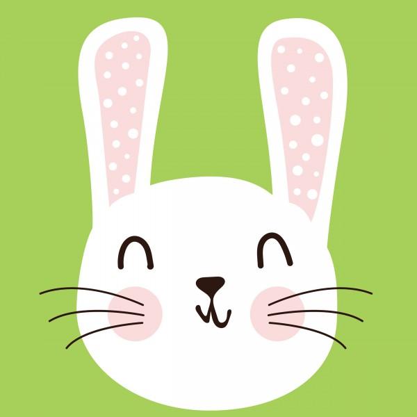 20 Cocktailservietten Cute Bunny – Niedlicher Hasenkopf 24x24cm