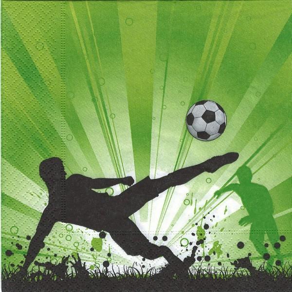 20 Servietten Soccer mania - Fußball Euphorie 33x33cm