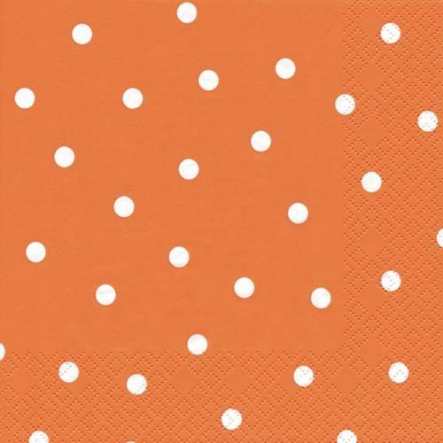 20 Servietten Punkte orange 33x33cm