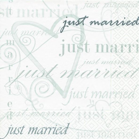 20 Servietten Wedding Time - Zeit zu Heiraten 33x33cm