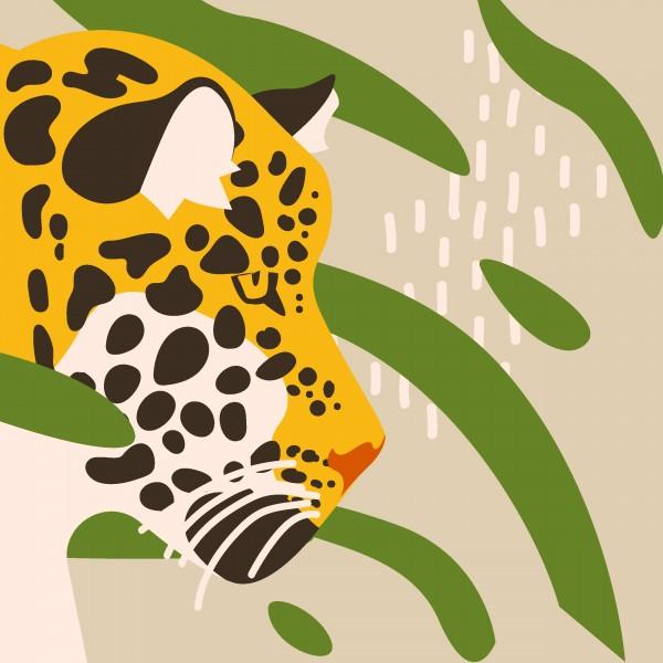 20 Cocktailservietten Amur Leopard – Lauernder Leopard 24x24cm