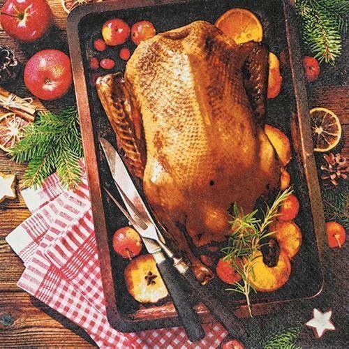 20 Servietten Holiday Roast 33x33cm