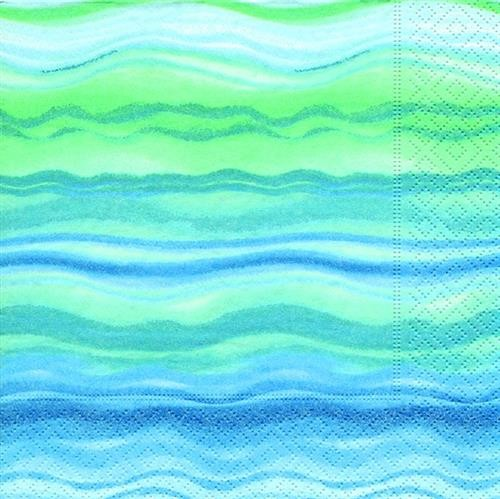 Paper Design Duni Servietten Blue Waves