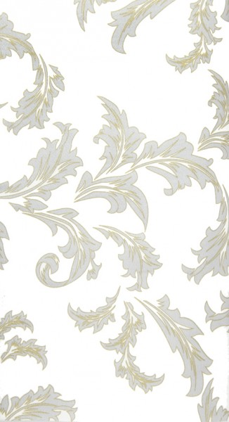 Mitteldecke Luxury gold/silver - Ornamente edel gold/silber 80x80cm