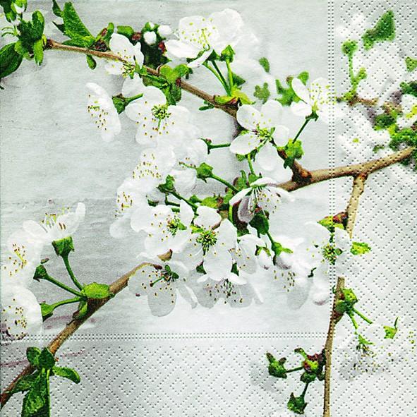 20 Servietten Cherry Twig - Kirschzweig 33x33cm