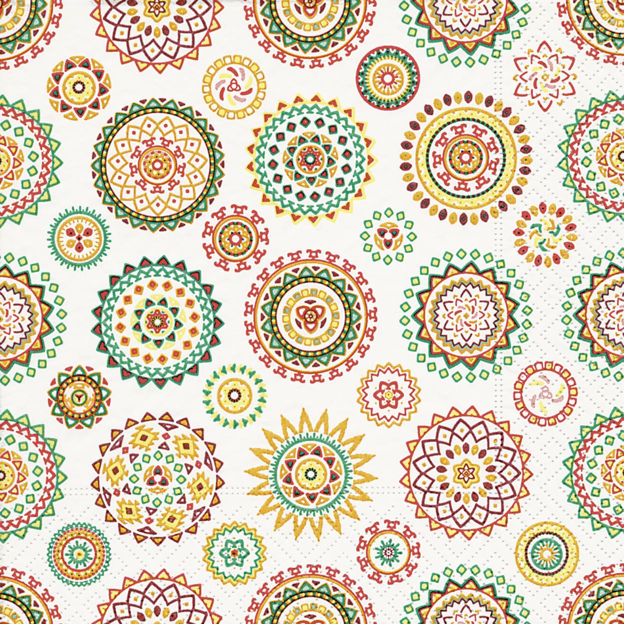 20 Servietten Colourful Rosettes Serviettenshop De Serviettenshop Tischdeko Fur Jeden Anlass