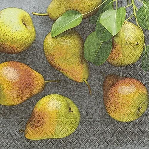 20 Servietten Fresh Pears 33x33cm